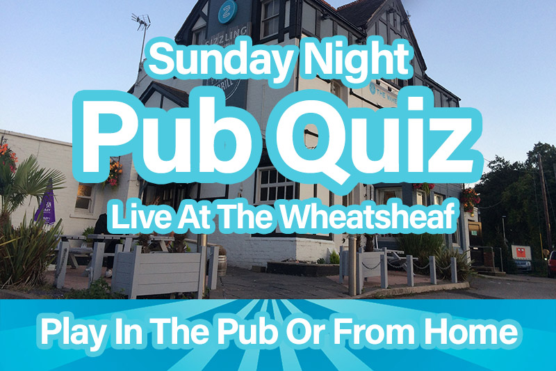 Sunday night pub quiz in Chester, streamed live.